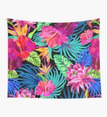 Drive You Mad Hibiscus Pattern Wall Tapestry