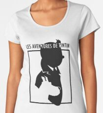 You hit a wall, push through it. There's something you need to know about failure, Tintin: You can never let it defeat you. Women's Premium T-Shirt