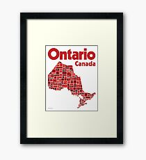 Everything Ontario - Canada 150 Poster Framed Print