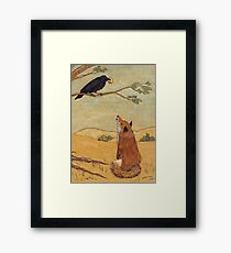 Aesops Fable the Fox and Crow Framed Print