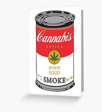 Campbell's Cannabis Sativa Greeting Card