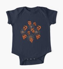 Orange Leaves With Holes And Spiderwebs Kids Clothes