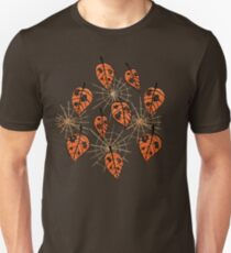 Orange Leaves With Holes And Spiderwebs T-Shirt