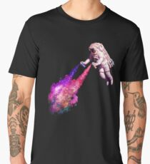 Shooting Stars - the astronaut artist Men's Premium T-Shirt