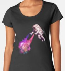 Shooting Stars - the astronaut artist Women's Premium T-Shirt