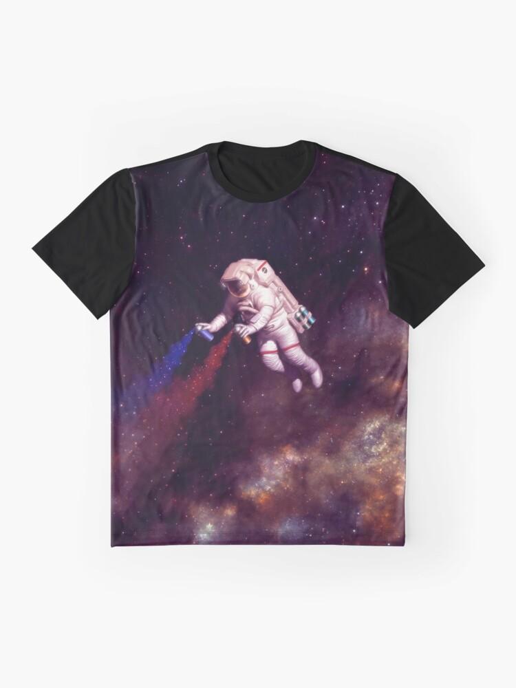 Alternative Ansicht von Shooting Stars - der Astronautenkünstler Grafik T-Shirt