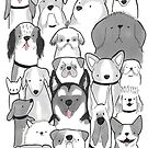A lots of dogs! by coseillustrate