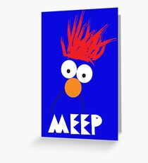 Beaker MEEP Greeting Card