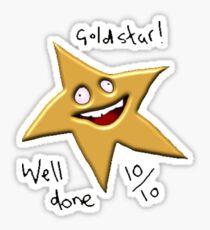 GOLD STAR WELL DONE 10/10 MEME! Sticker