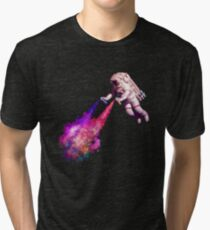 Shooting Stars - the astronaut artist Tri-blend T-Shirt