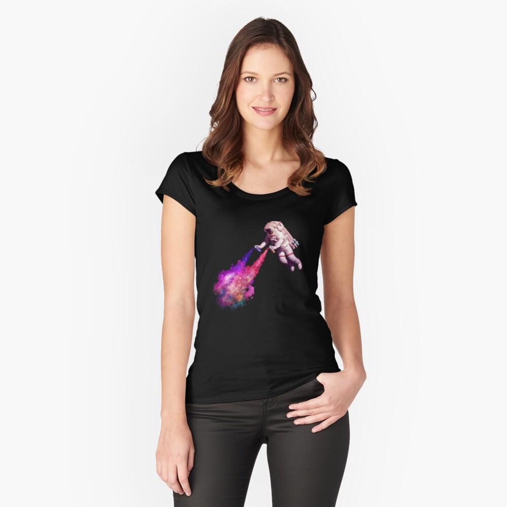 Shooting Stars - der Astronautenkünstler Tailliertes Rundhals-Shirt