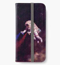 Shooting Stars - der Astronautenkünstler iPhone Flip-Case/Hülle/Skin