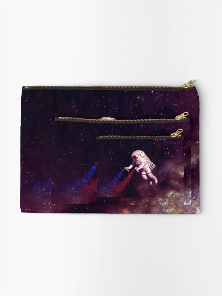 Alternate view of Shooting Stars - the astronaut artist Zipper Pouch