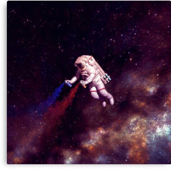 Shooting Stars - the astronaut artist by Carlos Tato