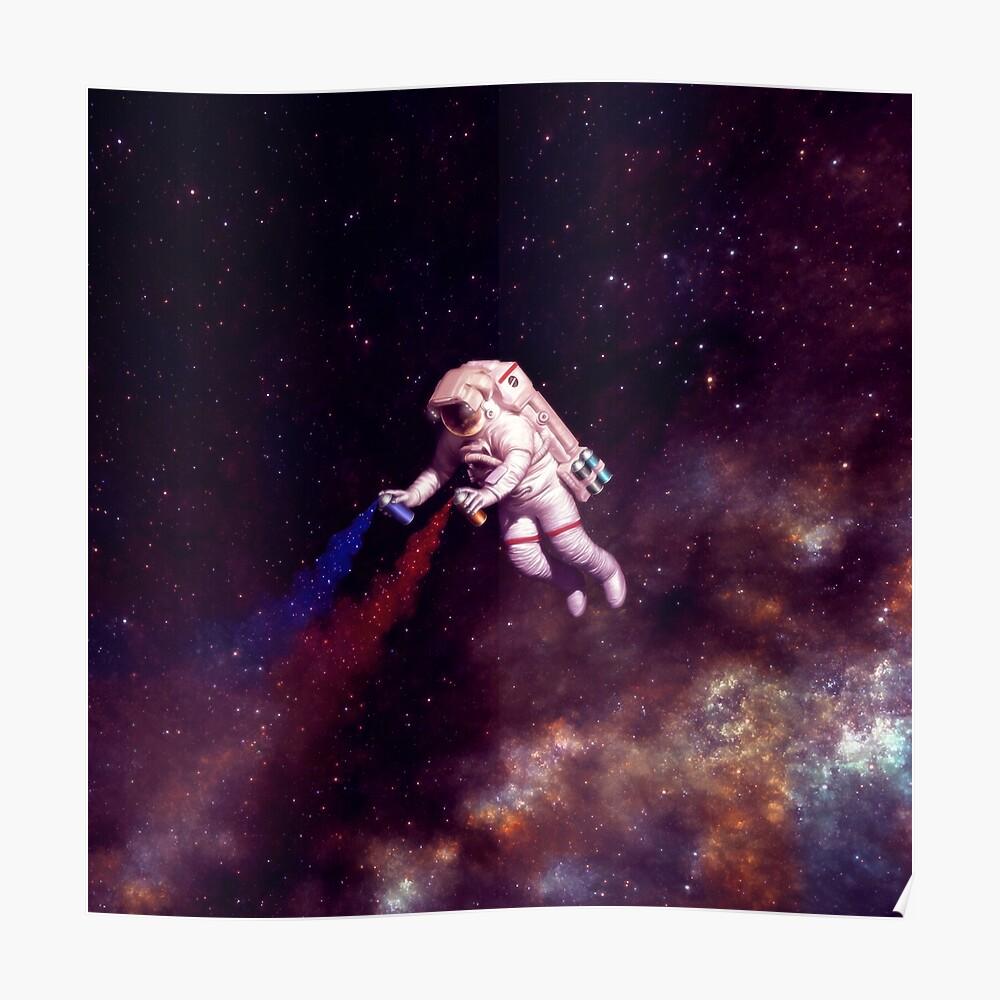 Shooting Stars - der Astronautenkünstler Poster