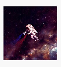 Shooting Stars - the astronaut artist Photographic Print