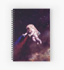 Shooting Stars - the astronaut artist Spiral Notebook