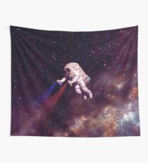 Shooting Stars - the astronaut artist Wall Tapestry