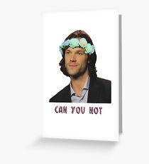 can u not // jared padalecki Greeting Card