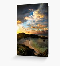 Sunset Cove Greeting Card