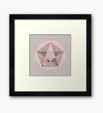 Glamorous Rose Gold Hexagon Symbol Framed Print