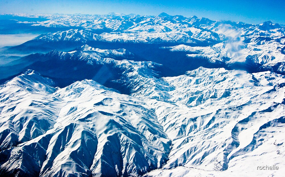 Flying high over the snow tipped andean peaks of Santiago (2) by rochelle