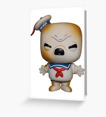 Funko POP Stay Puft Toasted Marshmallow Man  Greeting Card