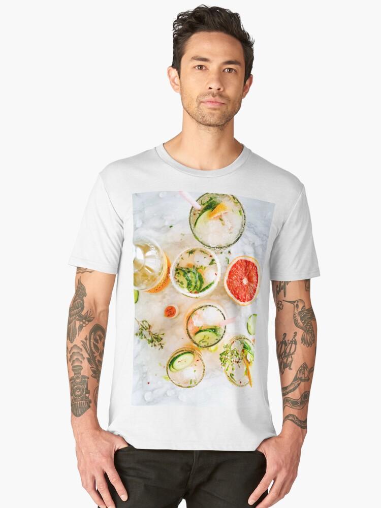 Alcoholic Cocktails. Men's Premium T-Shirt Front