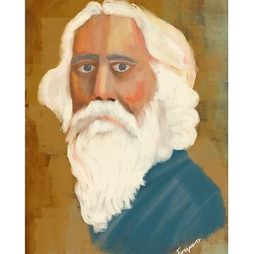 Portrait of Rabindranath Tagore by tareqnh