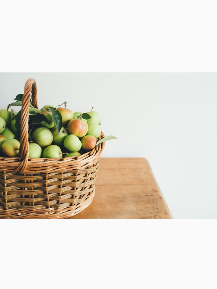 Basket Full Of Apples Photo Print. by CryptoTextile