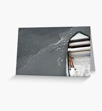 Altes Boot im Eis Greeting Card