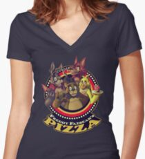 Welcome To Freddy Fazbear's Pizza! Women's Fitted V-Neck T-Shirt