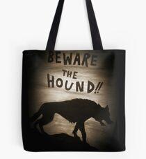 Sherlock Beware the Hound Tote Bag