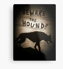 Sherlock Beware the Hound Metal Print