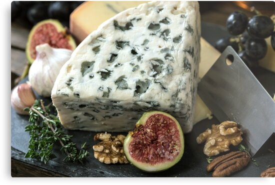 Blue Cheese Photo Print. by Crypto Textile