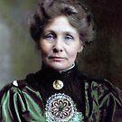 Emmeline Pankhurst - 1910 by Marina Amaral