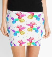 Watercolor Balloon Dogs on white Mini Skirt