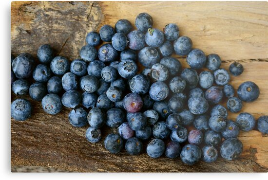 Blueberries Fruit. Photo Print. by Crypto Textile