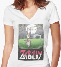 Zombilby (Zombie Bilby) Fitted V-Neck T-Shirt
