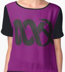 Red ABC Women's Chiffon Top