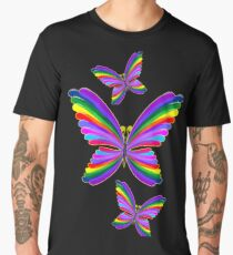 Butterfly Psychedelic Rainbow Men's Premium T-Shirt