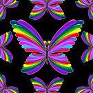 Butterfly Psychedelic Rainbow by BluedarkArt