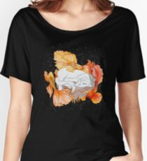 Cat and Golden fishes Women's Relaxed Fit T-Shirt