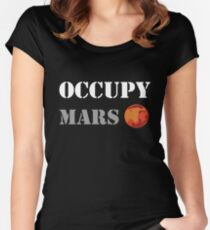 OCCUPY MARS Women's Fitted Scoop T-Shirt