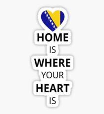 Geschenk Heart is home Bosnien_HZG Sticker