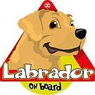 Labrador On Board - Cream by DoggyGraphics