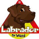 Labrador On Board - Brown by DoggyGraphics