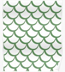 Fish Scales Green Poster