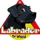 Labrador On Board - Black by DoggyGraphics