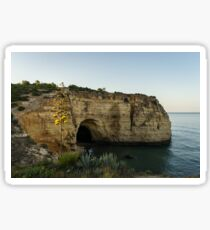 Sea Cave and Agave Bloom Spike - the Magic of Algarve Portugal Sticker